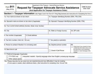 irs form 911 instructions